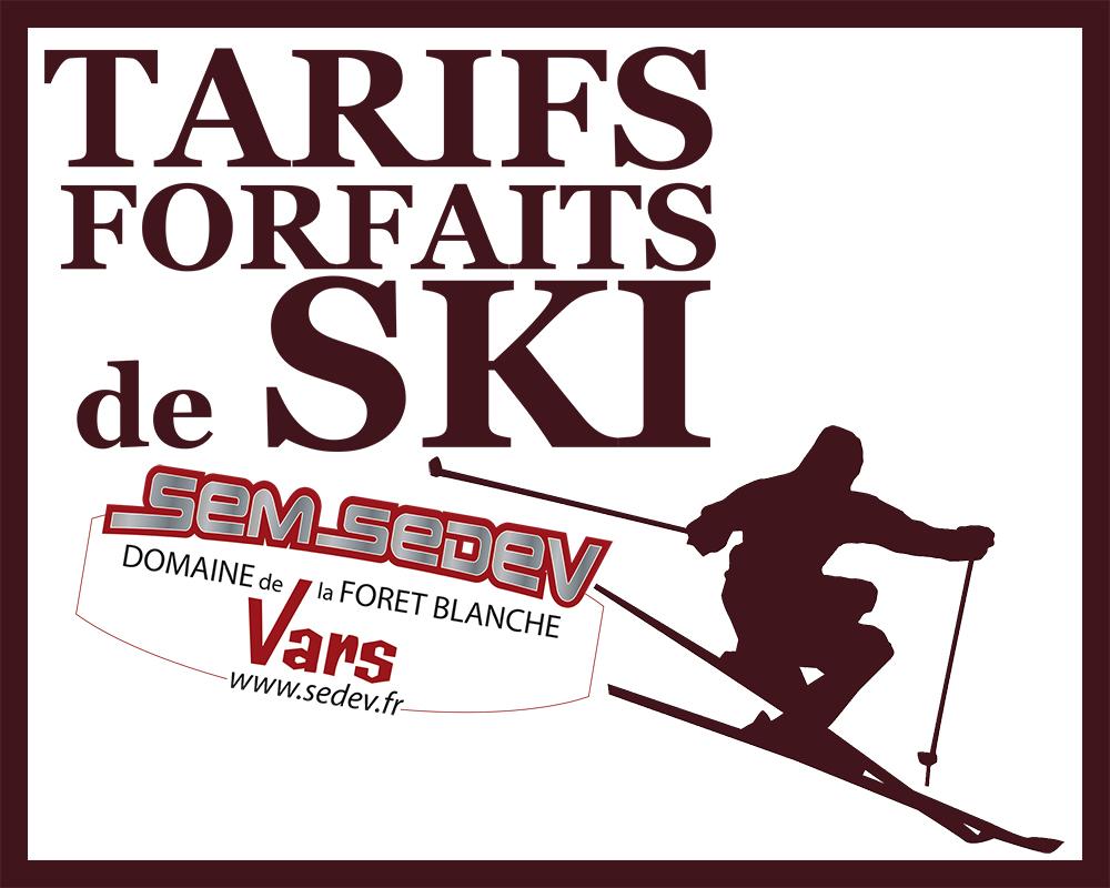 forfaits ski vars